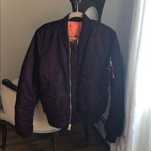 Maroon bomber jacket size Large